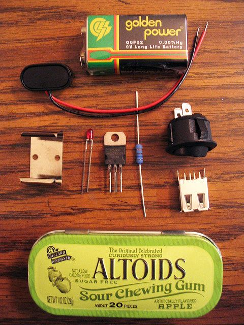 Altoids charger For less than twenty bucks, you can make a portable battery pack…