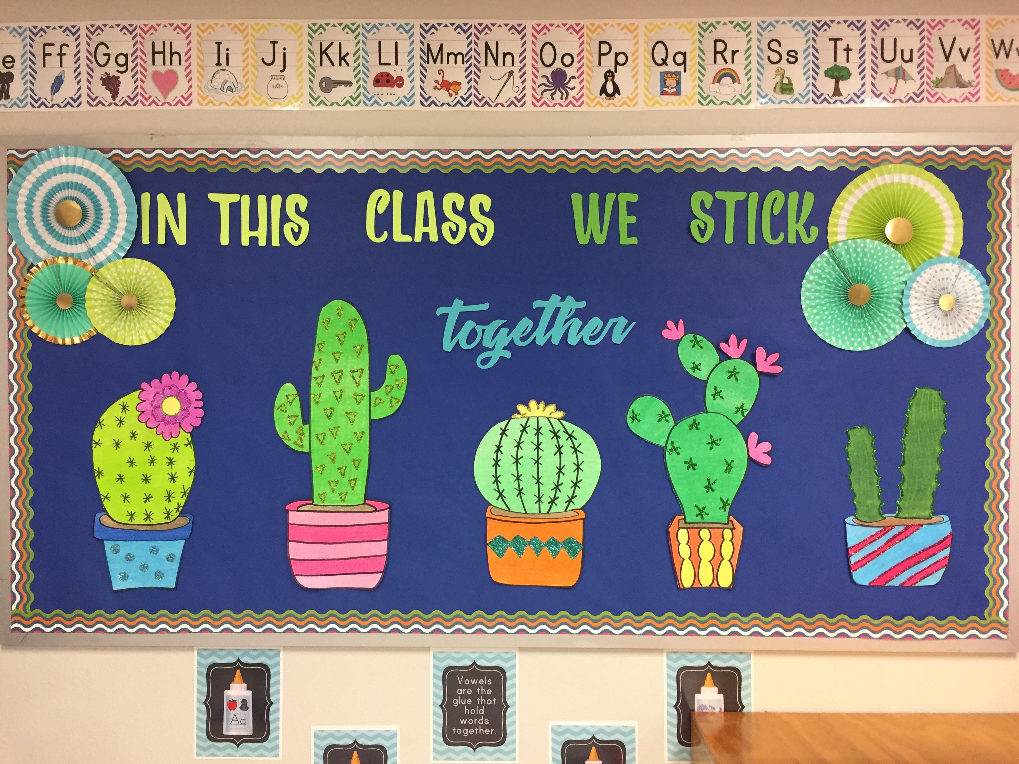 Classroom Decoration Cactus ~ Cactus bulletin board boards doors