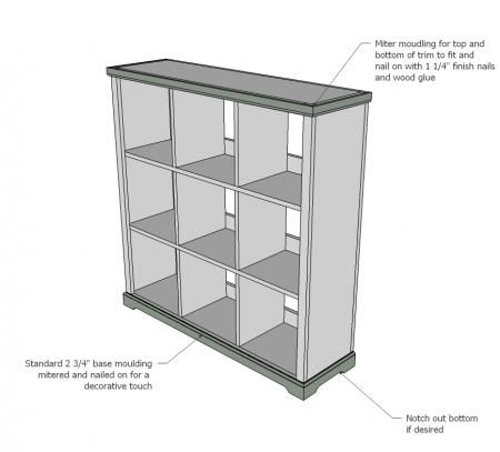 Sensational Large Cubby Shelves Diy Plans Via Knock Off Wood Ana Home Remodeling Inspirations Cosmcuboardxyz