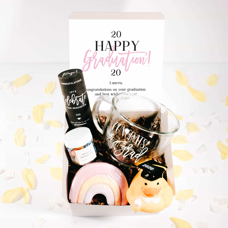 Cute college graduation gift box masters graduation gift