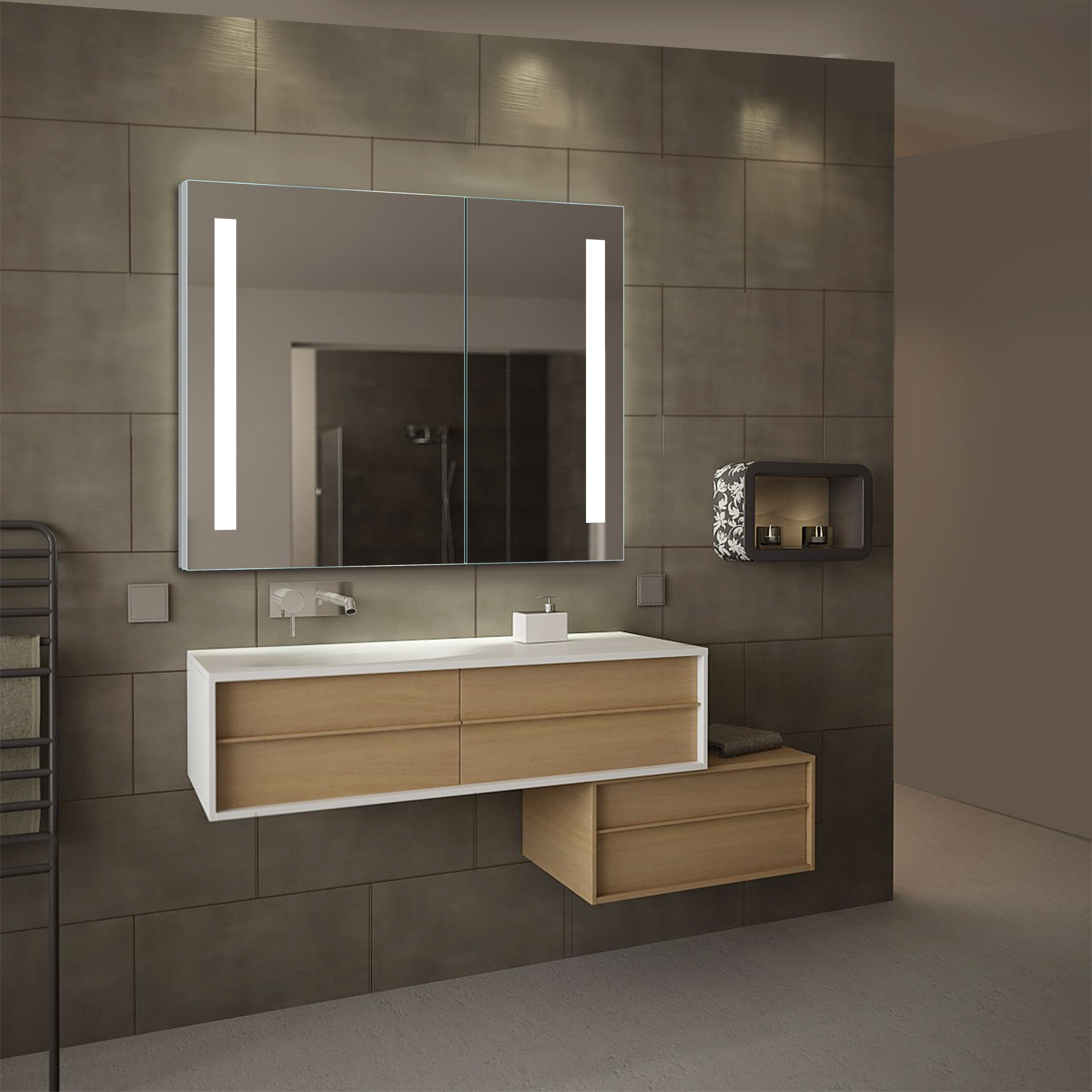 Home Mirror Cabinets Mirror Wall Bathroom Small Bathroom