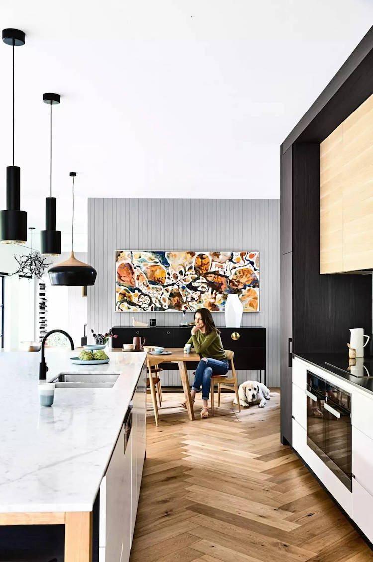 Cuisine moderne - 20 idées fraîches de revêtements, meubles ...