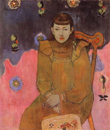 Portrait of a Young Woman, Vaite (Jeanne) Goupil  Paul Gauguin, 1896