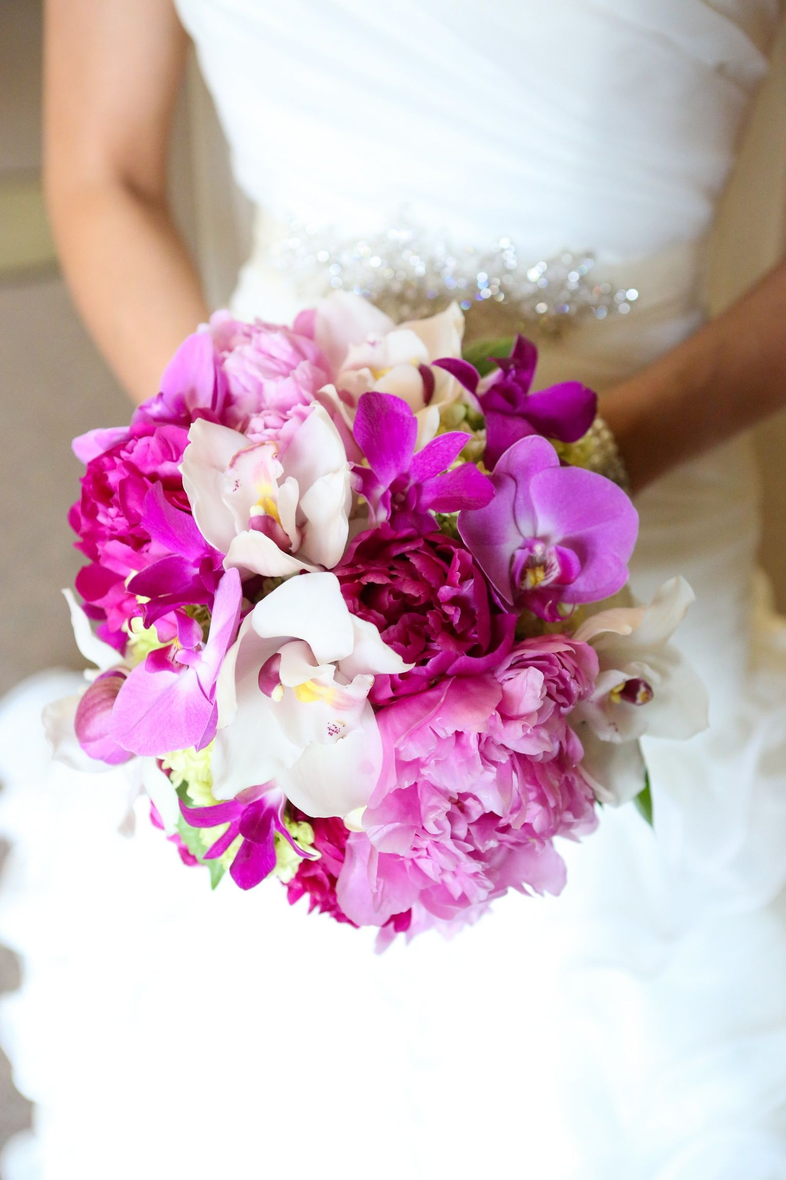 My orchid and peony wedding bouquet weddings pinterest peonies