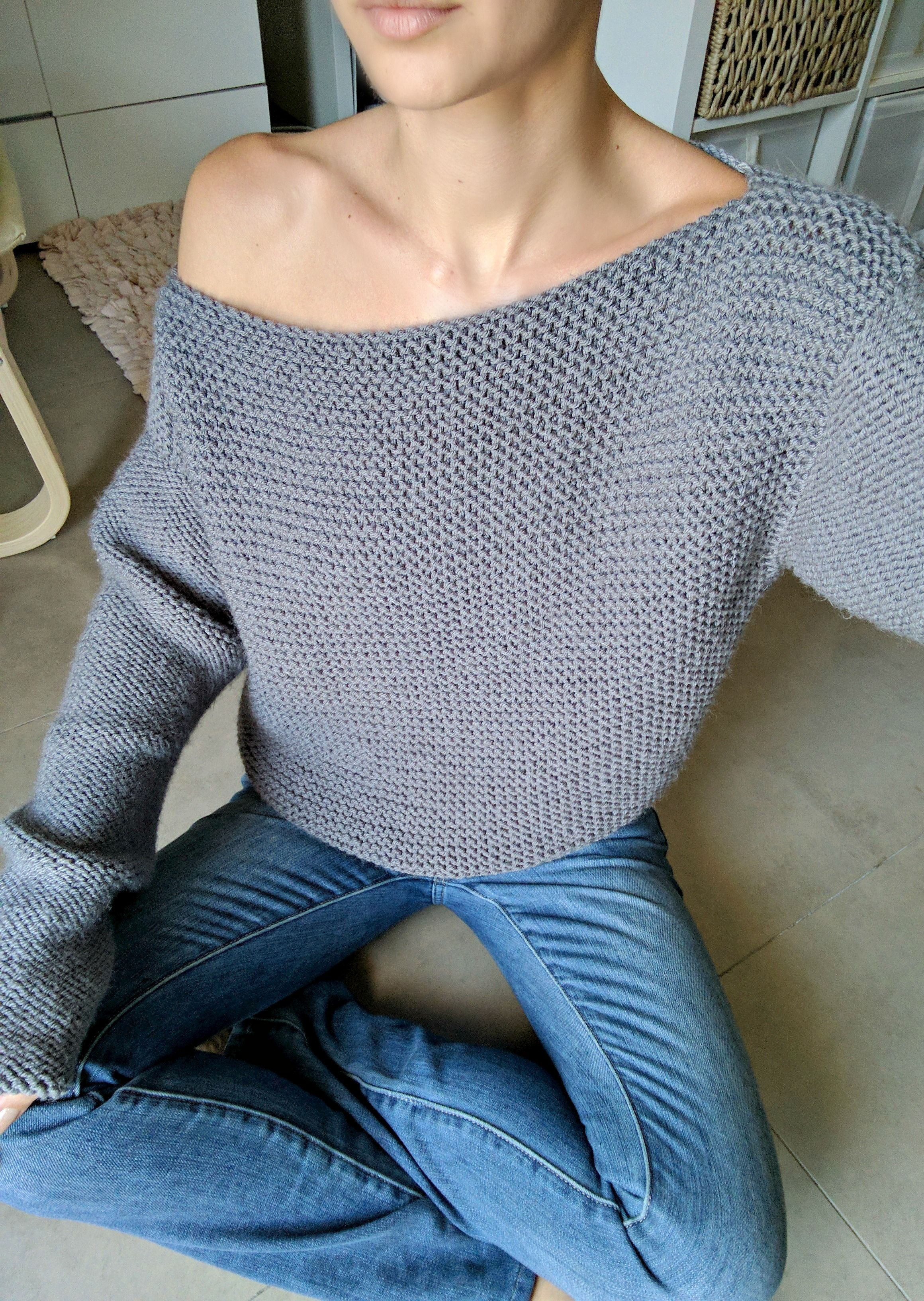 1c30da8d7 No Purls Sweater Pattern ONLY