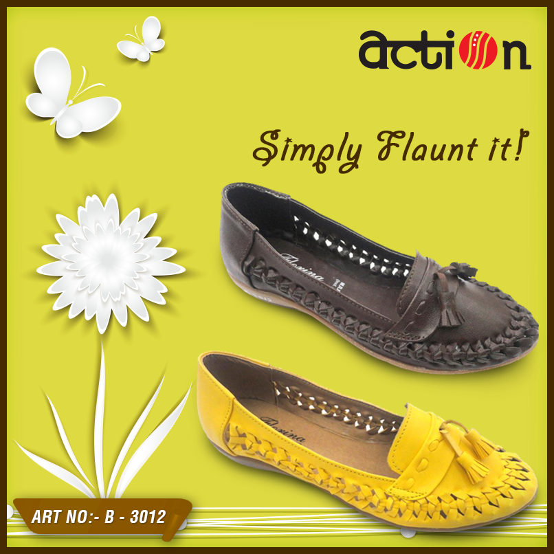 Love for peppy colors is what in the air these days. Just go flaunt yourself with these cute bellies. Buy - www.actionestore.com