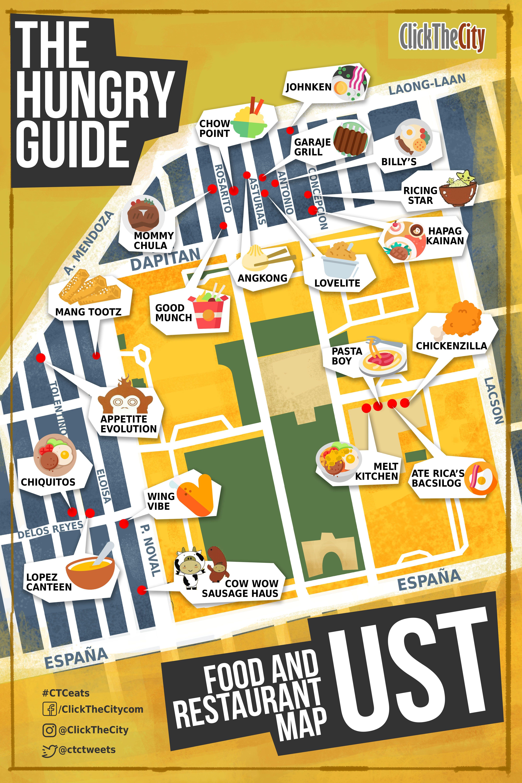 Ust Campus Map : campus, España, Hungry, Guide), University, Santo, Tomas,