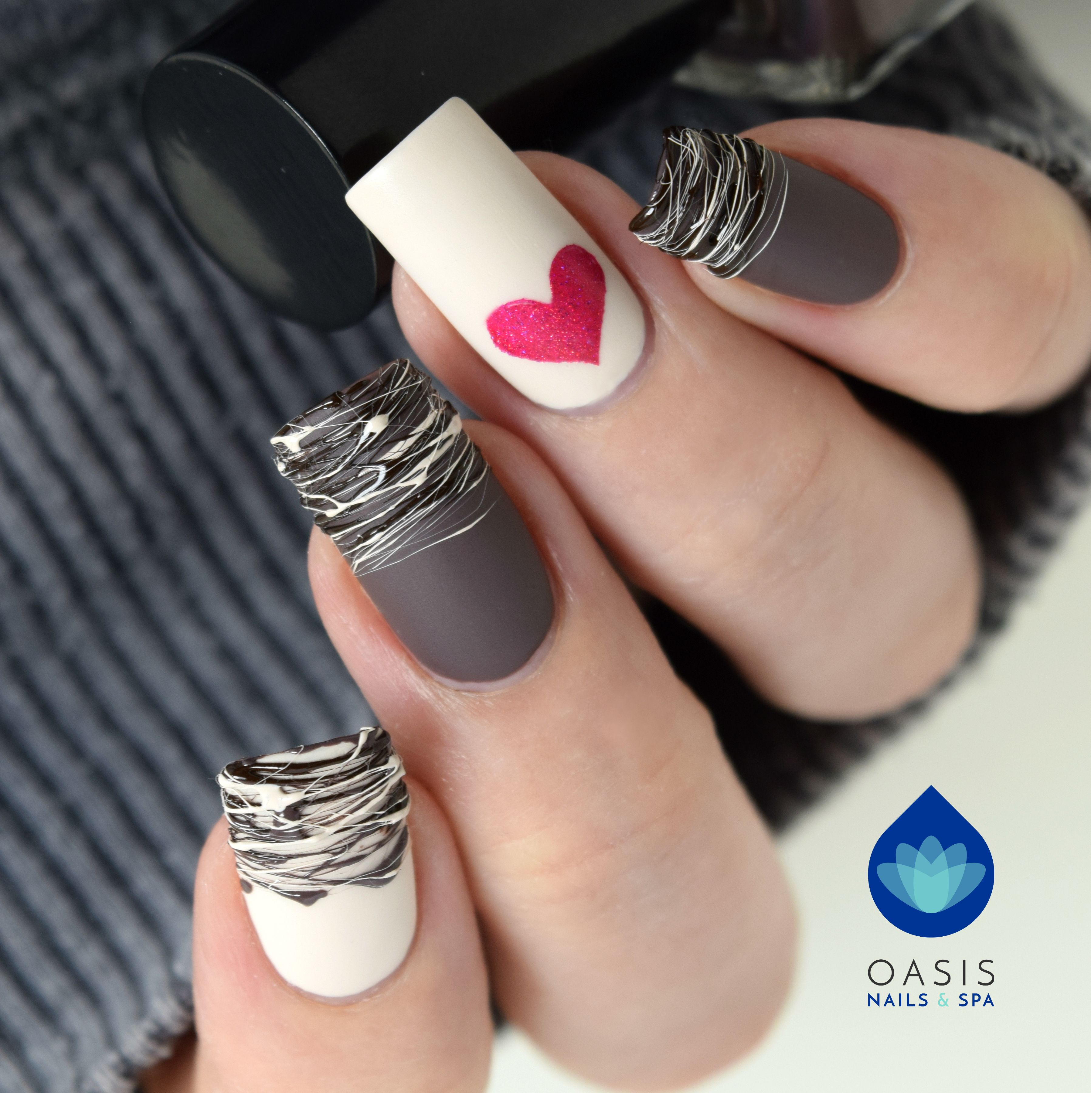 Chocolate Drizzle Nails Victoriabc Yyj