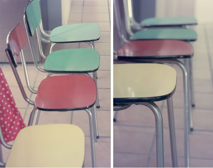 les chaises en formica de la cuisine de ma grand m re. Black Bedroom Furniture Sets. Home Design Ideas