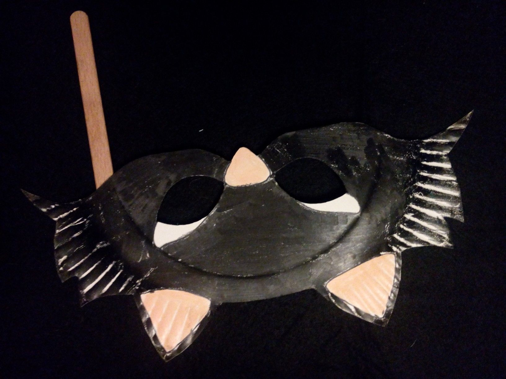 cat paper plate mask & cat paper plate mask   puppets   Pinterest   Paper plate masks and ...