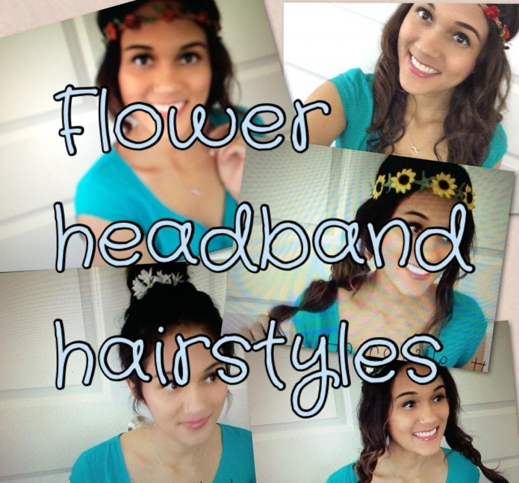 different hairstyles using flower crownsheadbands