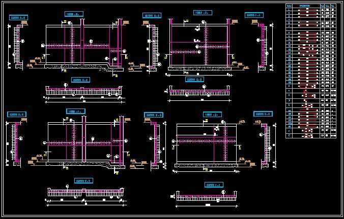Exemple de plan de coffrage et ferraillage d 39 une b che for Plan de maison avec autocad
