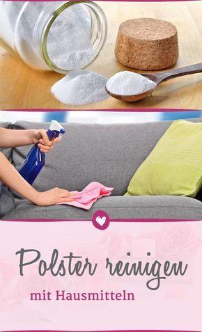 Polster reinigen: Mit Hausmitteln gegen Flecken und ...