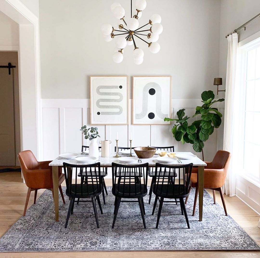 Whitneymichellewilliams We Love How You Mixed In Our Madison Chairs For A Casual F Mid Century Modern Dining Room Dining Room Decor Modern Modern Dining Room