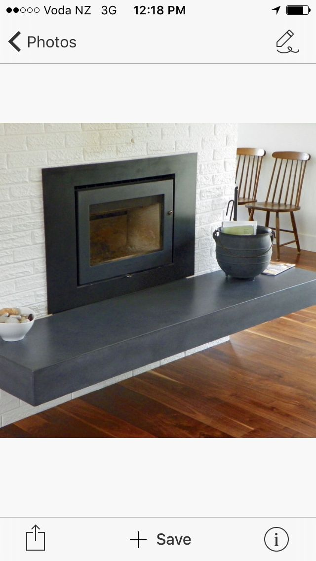A lovely floating hearth