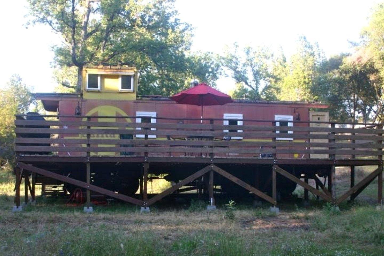 Vintage Santa Fe Caboose Luxury Rental near