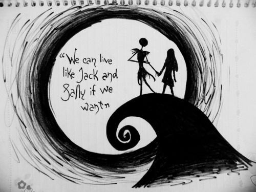 Jack and Sally (jack,sally,nightmare before christmas,love ...