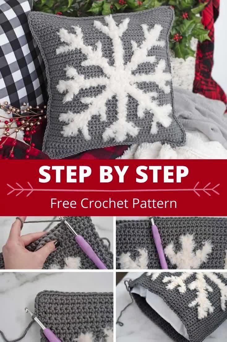 Free Snowflake Pillow Crochet Pattern
