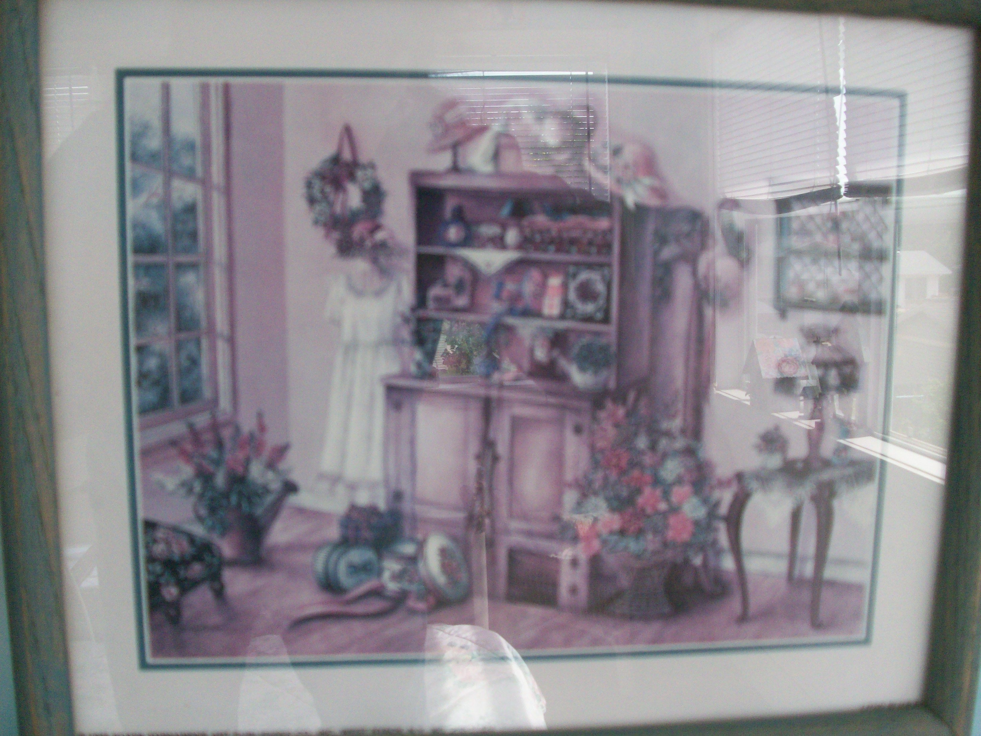 antique cabinet, pretty room