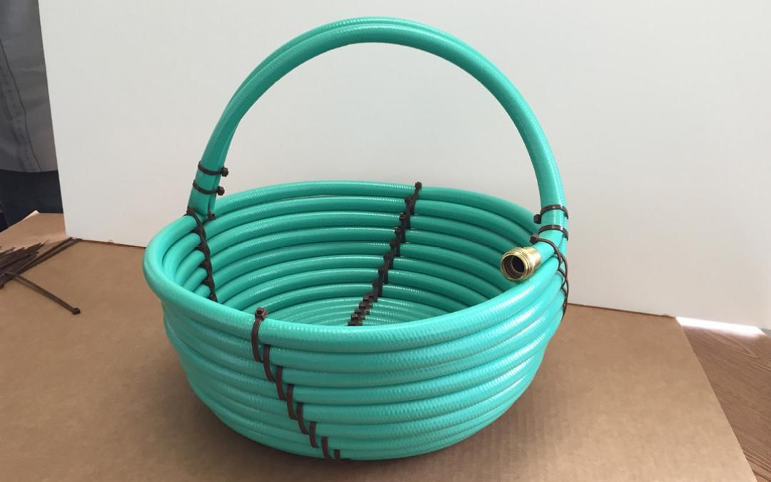 Repurpose: Garden hose to basket (from Sierra Club magazine - based on project by Deandra's Crafts at instructables.com/recycled-water-hose-basket)