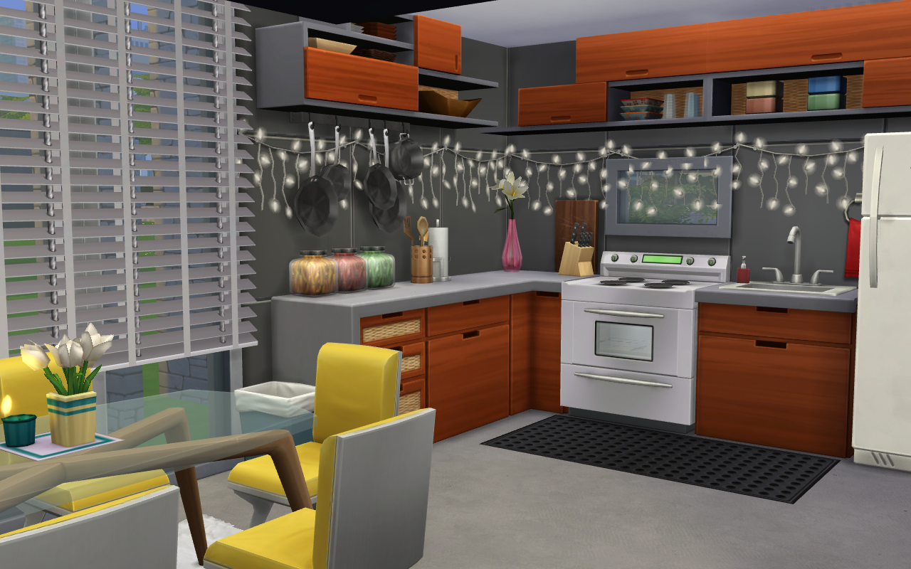 House Build 2 Kitchen & Dining Area The Sims 4 di 2020
