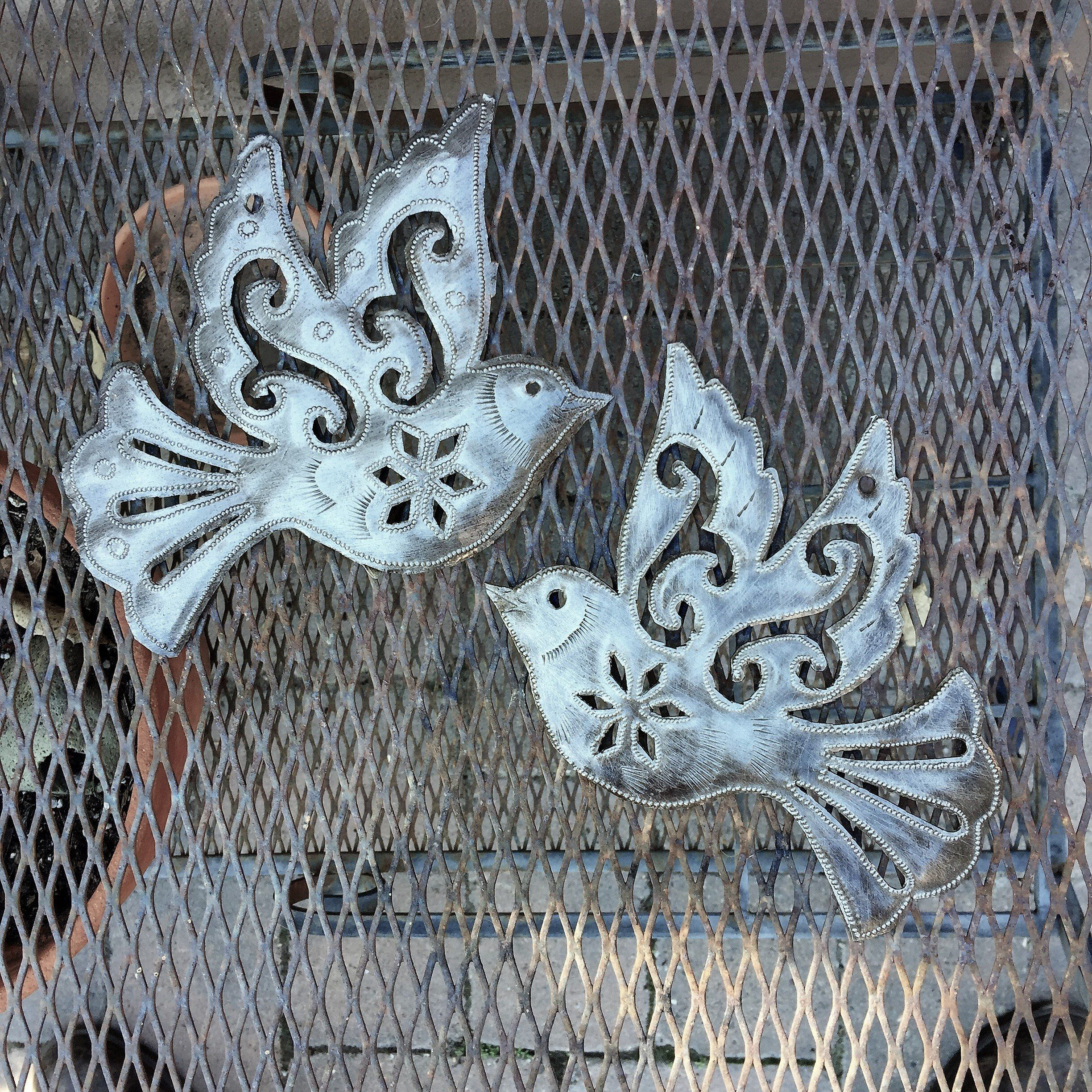 Dove Flying Birds Metal Art Haiti Engraved Inspirational Wall Art Set Of 2 7 X 8 5 You Can Learn More Infor Inspirational Wall Art Wall Art Sets Birds Flying