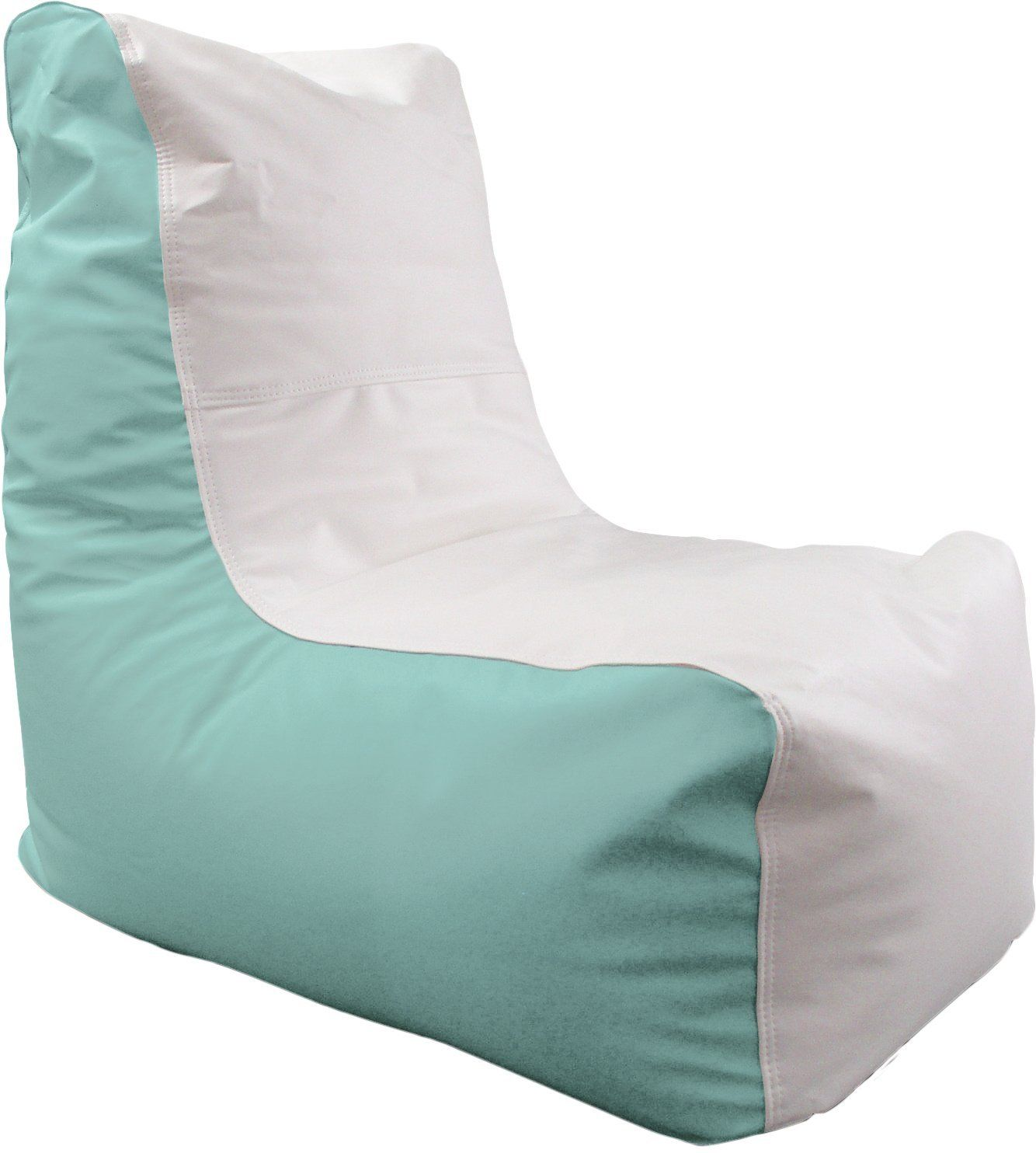 Groovy Oceantamer Small Wedge Marine Bean Bag White Seafoam For Inzonedesignstudio Interior Chair Design Inzonedesignstudiocom