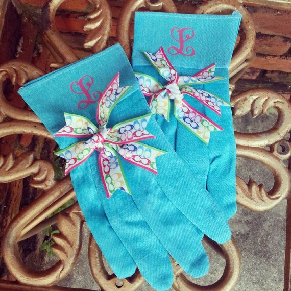 Monogrammed Gardening Gloves Custom by SouthernLeeDesigns on Etsy, $8.00