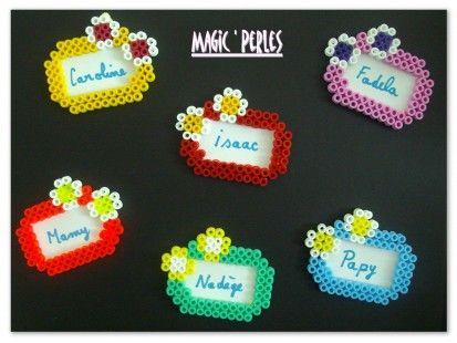 Tag name hama perler by Magic Perles