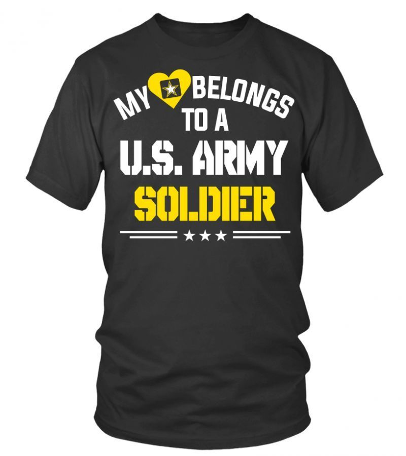 Police t shirts amazon my heart belongs to a u.s. army
