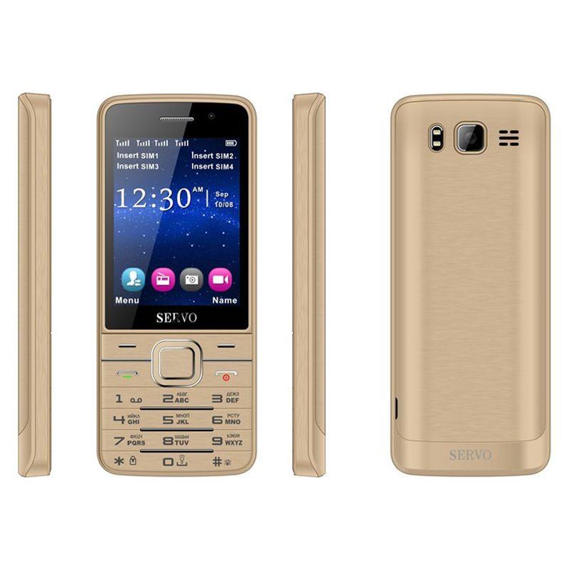 Telefono 1800mAh P283 4 Sim 4 standby FM GPRS mobile SERVO V9500 2.8 pollici HD grande schermo