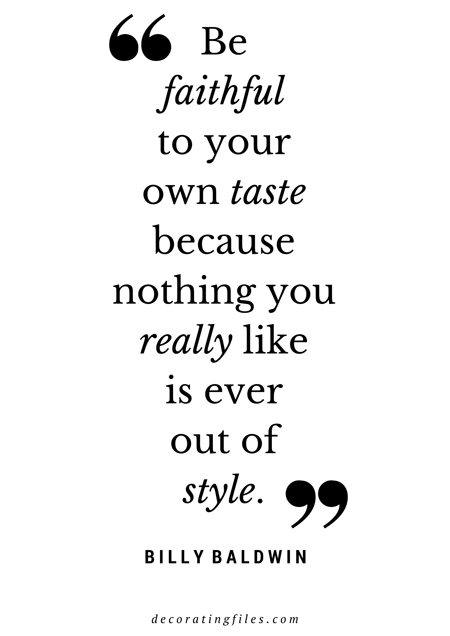 Interior quotes to live by
