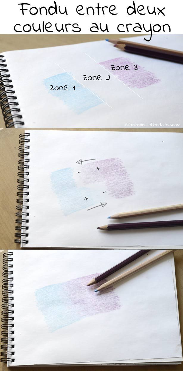 Colorier De Jolis Degrades Au Crayon De Couleur Crayon De