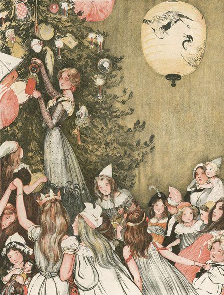 Vintage Christmas Illustrations.Vintage Christmas Illustrations Vintage Christmas Art
