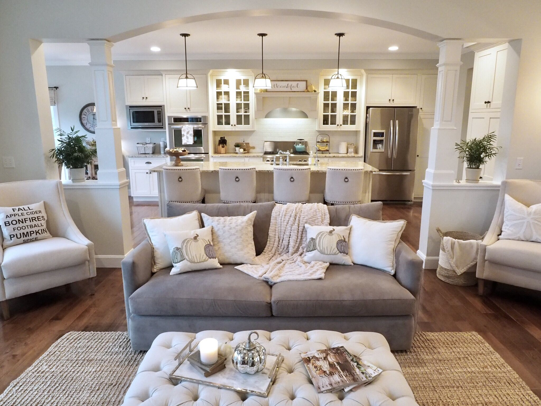Open Concept Floorplan Open Floorplan Living Room Family Room White Kitchen Living Room Floor Plans Open Concept Living Room Open Kitchen And Living Room