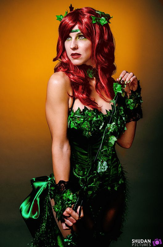 Comic book poison ivy costume