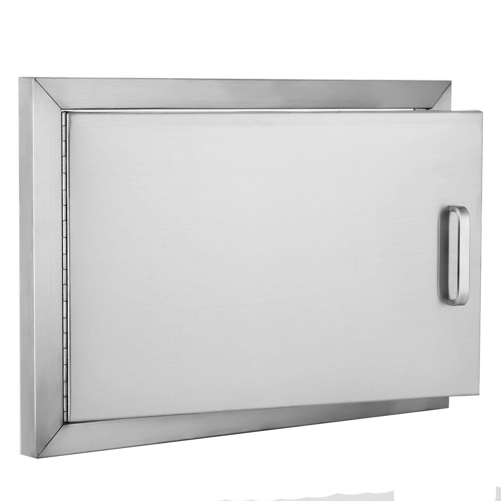Zbond 20wx 14h Bbq Access Door 304 Stainless Steel Bbq Island Door Heavy Duty Single Horizontal Door For Out Stainless Steel Bbq Outdoor Storage Storage Spaces