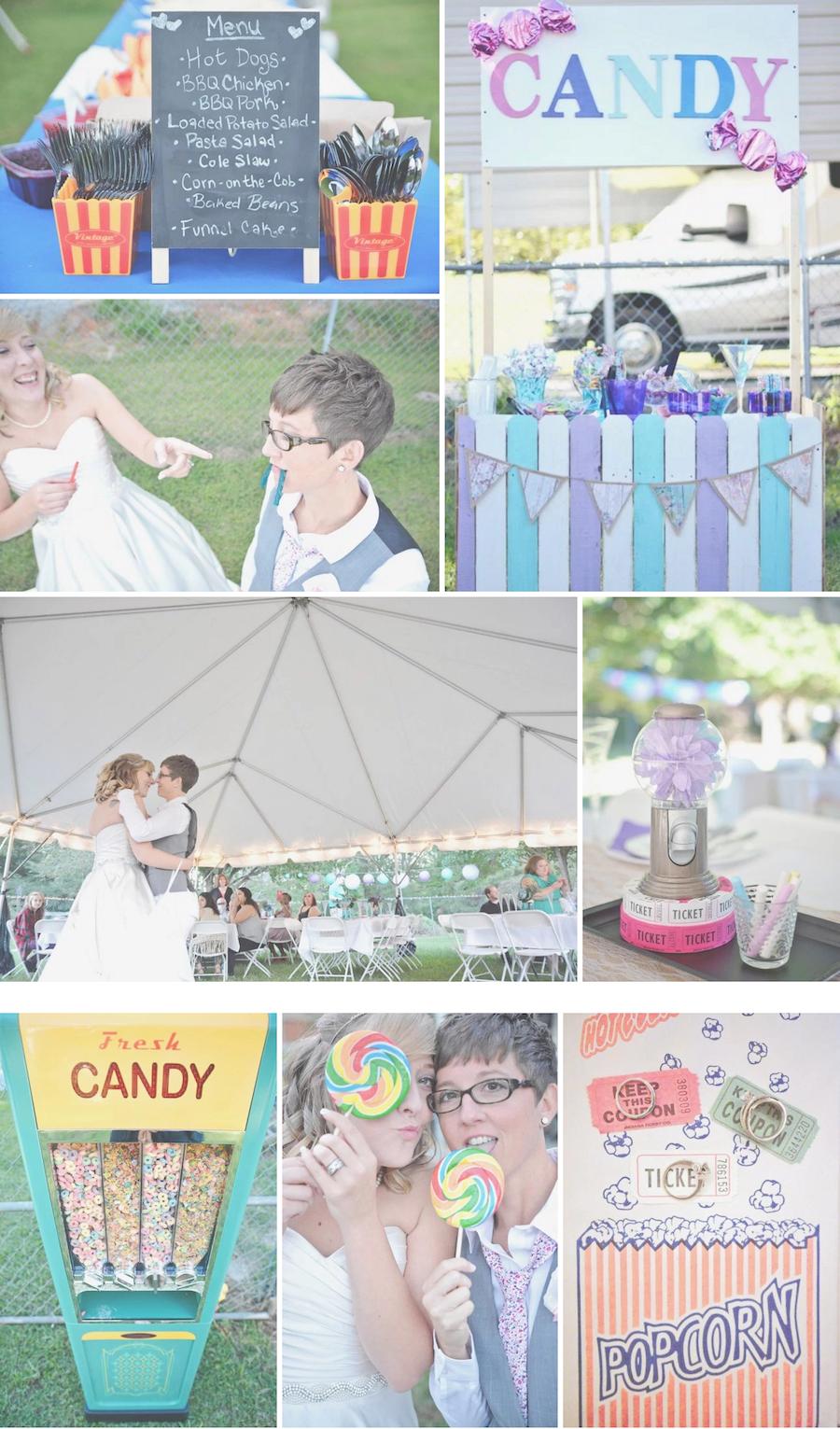 Amanda and Jennifer\'s Backyard Carnival-Themed Wedding | Pinterest ...
