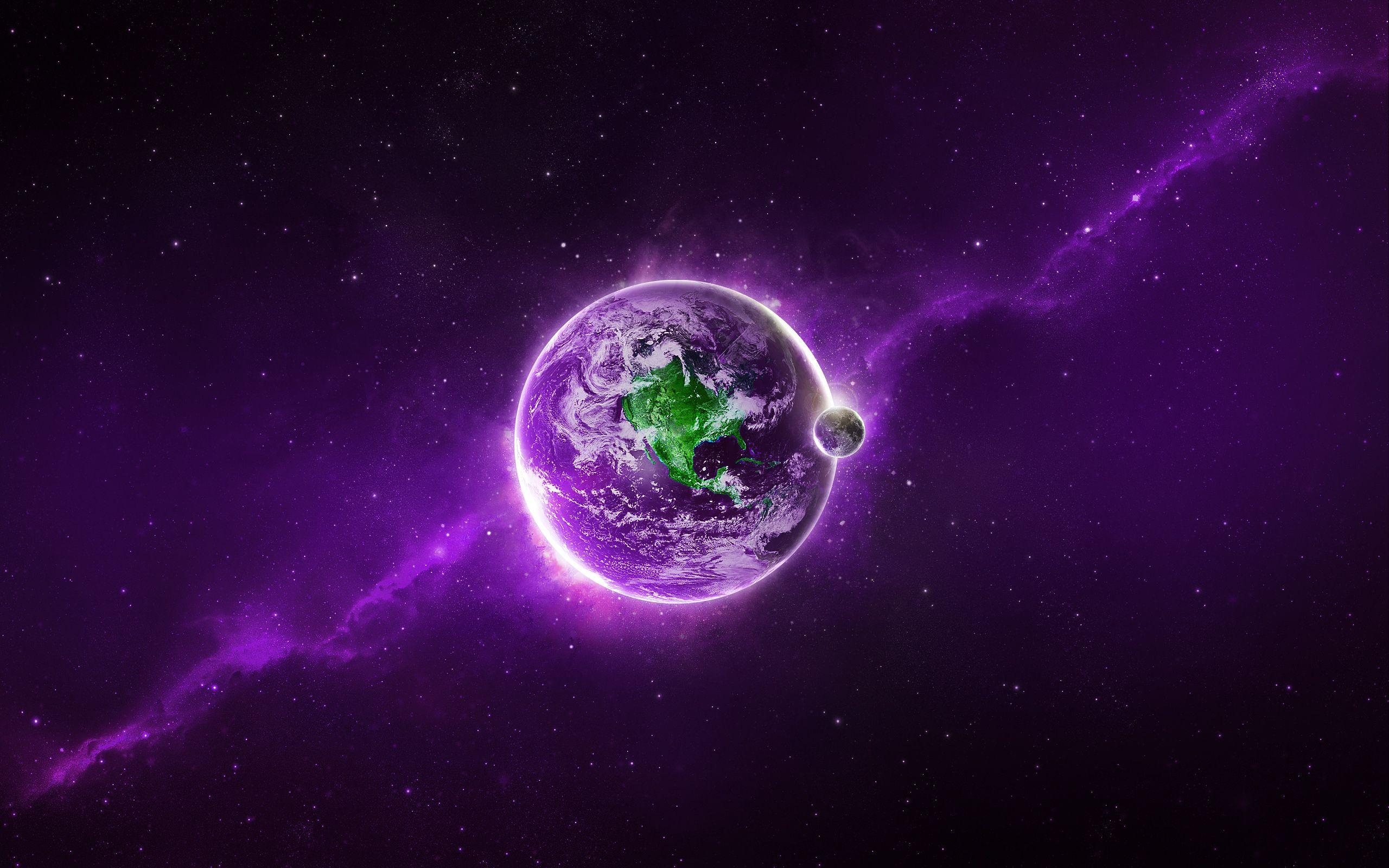 Purple Earth Re Pinned By Www Quantumwave Com Purple Wallpaper Purple Abstract Abstract Wallpaper