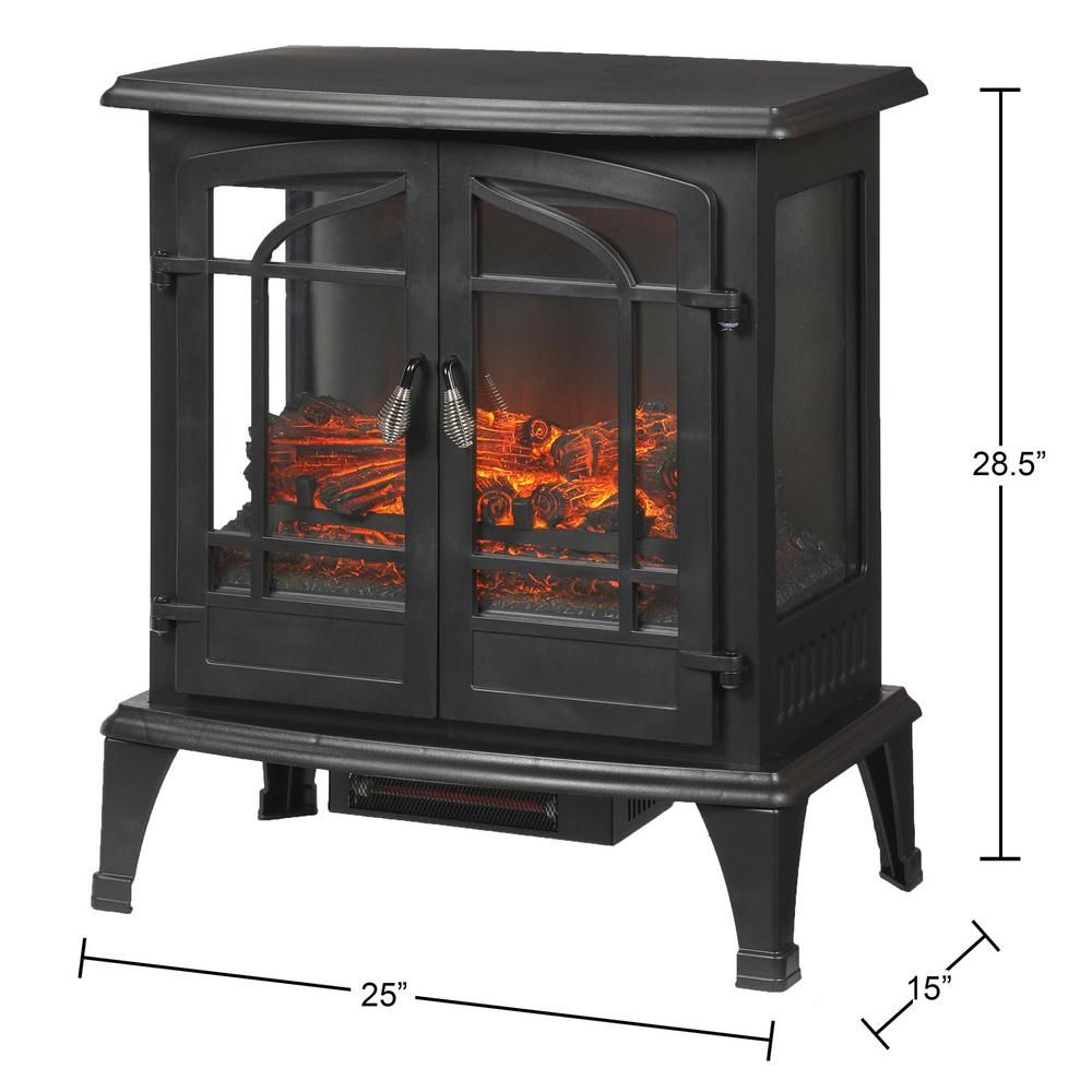 Stylewell Legacy 1 000 Sq Ft Panoramic Infrared Electric Stove In Black Est 540t 10 Y Electric Stove Electric Stove Fireplace Stove