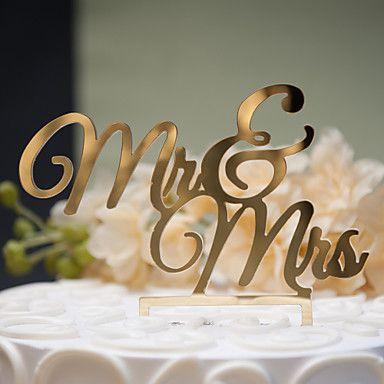 Decorazioni+torte+Non+personalizzate+Coppia+classica+Plastica+dura+Anniversario+/+Addio+al+celibato/nubilato+/+Matrimonio+Oro+/+Argentato+–+EUR+€+6.85