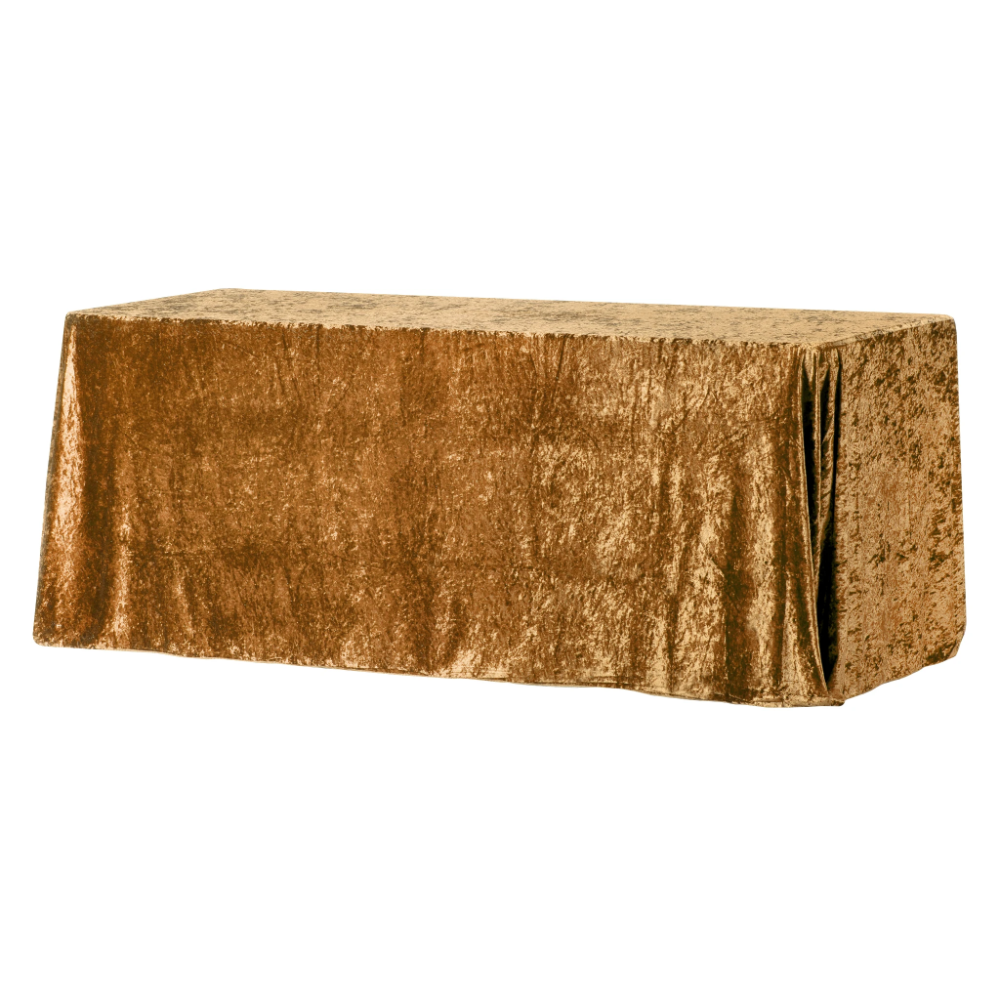 "Velvet 90""x132"" Rectangular Tablecloth Mustard Gold in"