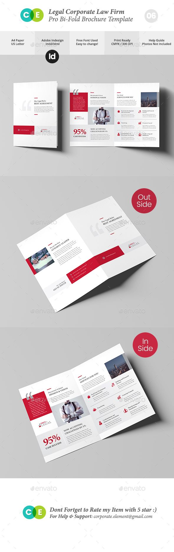 Legal Corporate Law Firm Business BiFold Brochure V  Corporate