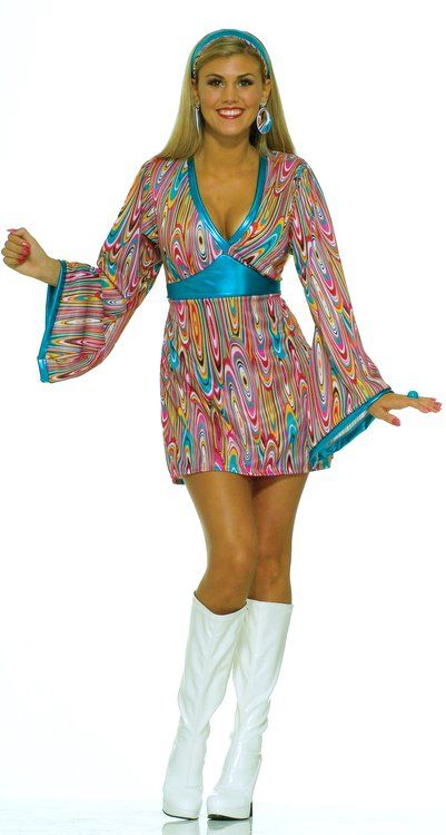 6cd375c6565c Adult Wild Swirl Go Go Dress Costume - Candy Apple Costumes - 70 s Costumes