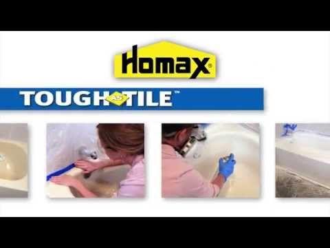 How To Apply Homax Tough As Tile Tub Sink One Part Epoxy Youtube Tiles Tile Refinishing Epoxy Finish