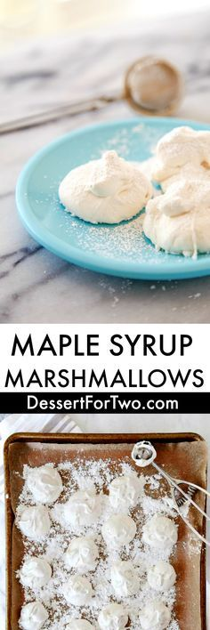 Homemade Marshmallows Without Corn Syrup - Dessert for Two