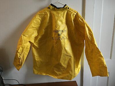 Vintage New York City Ta N Y C T A Auth Nasco Flame Proof Yellow Jacket Vintage New York Jackets New York City
