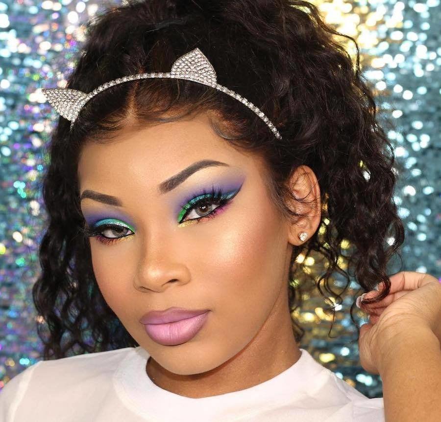 Aaliyah Jay, aaliyahjay in 2020 Rainbow makeup