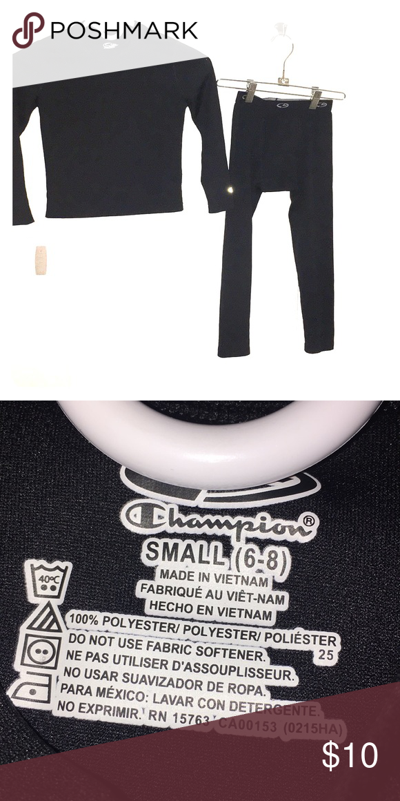 6a501509e6609 NWOT Kids Champion Thermal Long Johns New without tags black thermal  longjohns for kids size small 6-8. 100% polyester Champion Matching Sets
