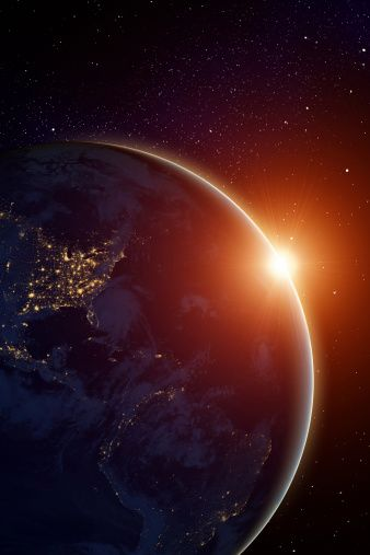 Rising Sun Behind Planet Wallpaper Earth Earth From Space Wallpaper Space Earth wallpaper 4k for android